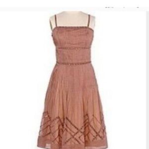 Anthropologie Elevenses Beaded Mauve Strap Dress 2